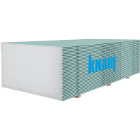 Гіпсокартон вологостійкий Knauf 1200х2000х12.5мм