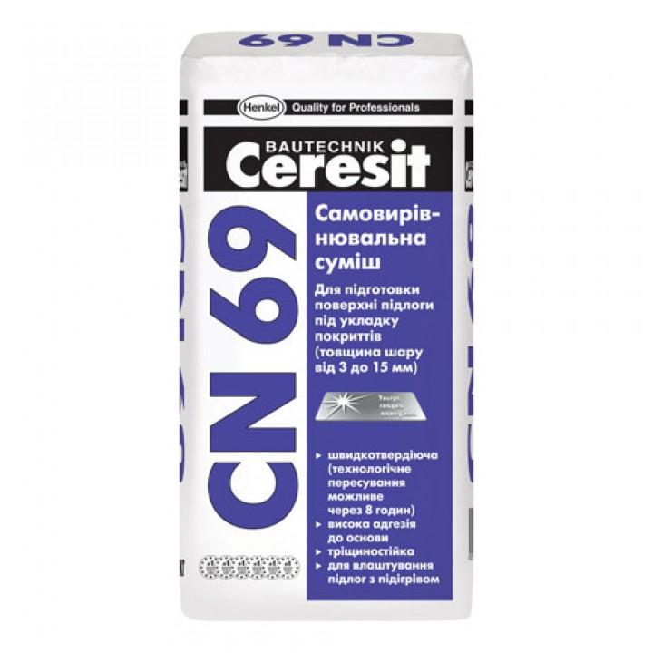 Самовыравнивающаяся смесь для пола Церезит CN-69 (Ceresit CN-69) (25кг.)