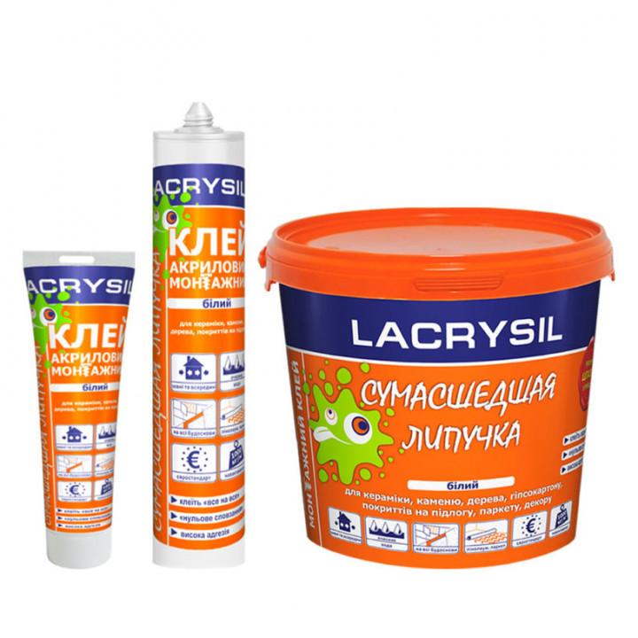 """Клей акриловий """"Божевільна липучка"""" ЛАКРІСІЛ (Lacrysil) 1.2кг."""