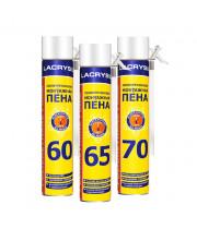 Пена монтажная ручная ЛАКРИСИЛ (Lacrysil) (70л/900гр)