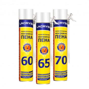 Пена монтажная ручная ЛАКРИСИЛ (Lacrysil) (60л/650гр)