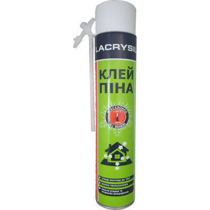 Пена-клей ручная ЛАКРИСИЛ (Lacrysil) (850мл/950гр)