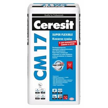 Клей для плитки эластичный Церезит СМ-17 (Ceresit CM-17) (25 кг.)