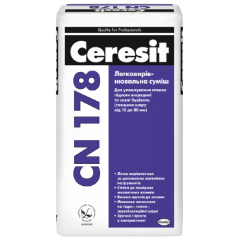 Легковыравнивающаяся смесь Церезит CN-178 (Ceresit CN-178) (25 кг.)