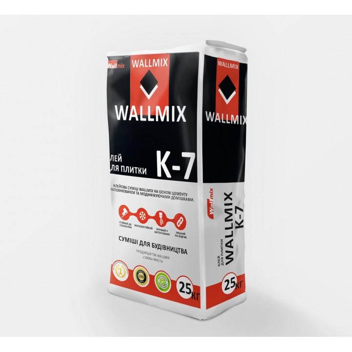 Клей для плитки WALLMIX K-7 (25кг.)