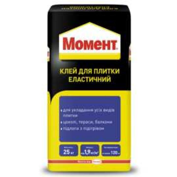 Клей для плитки Момент еластичний (25 кг.)