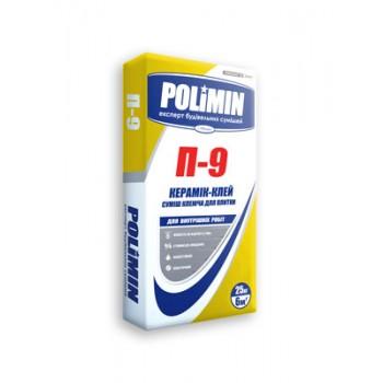 Клей для плитки Полимин П-9 (Polimin) (25 кг.)