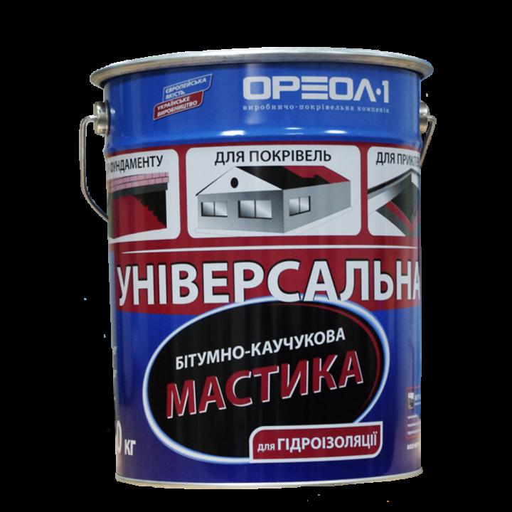 Мастика битумно-каучуковая Ореол (3кг)