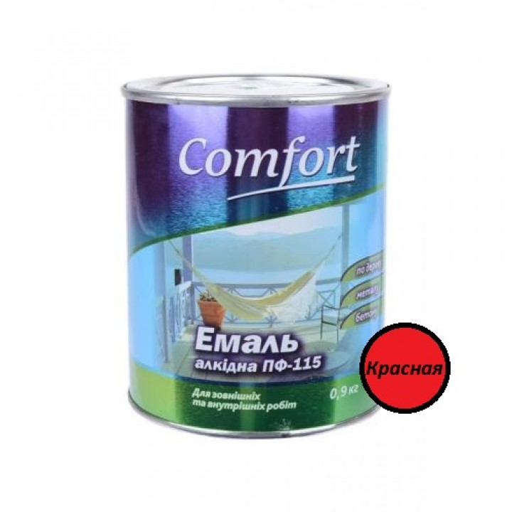 Эмаль Комфорт (Comfort) ПФ-115 красная (2,8кг.)