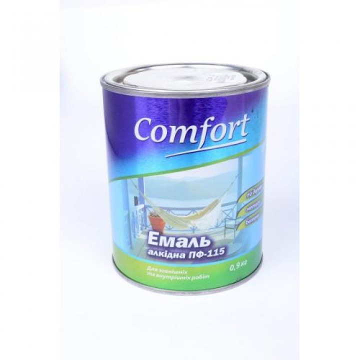 Емаль Комфорт (Comfort) ПФ-115 біла (0,9кг.)