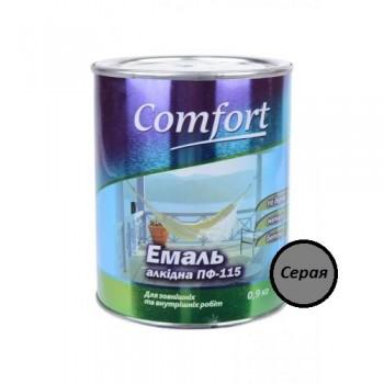 Эмаль Комфорт (Comfort) ПФ-115 серая (0,9кг.)