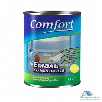 Эмаль Комфорт (Comfort) ПФ-115 желтая (2,8кг.)