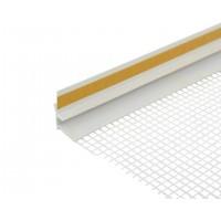 Профиль оконный примыкающий ПВХ с сеткой (2,5 м)