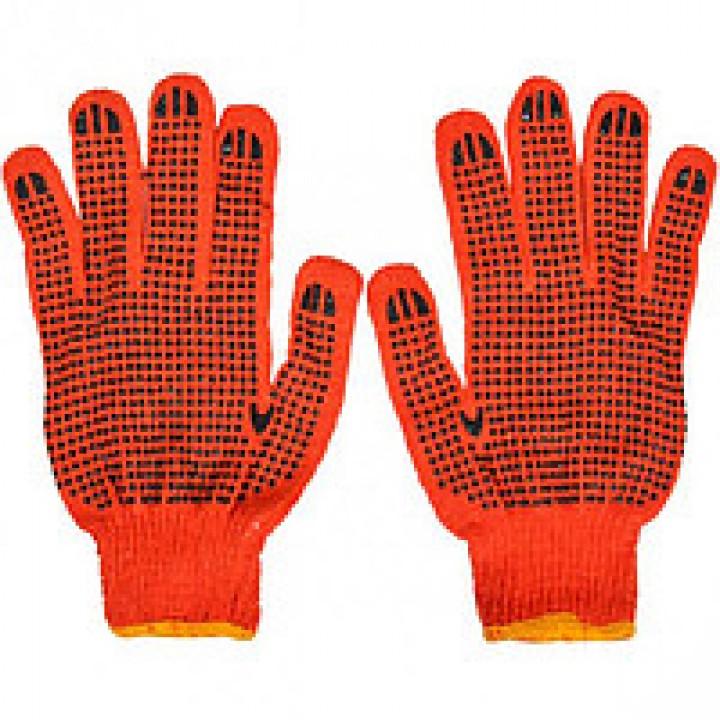Рукавички х / б помаранчеві