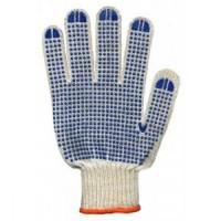 Перчатки синтетические с резиновыми точками
